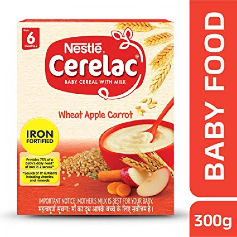 NESTLE CERELAC WHEAT APPLE CARROT FROM 6 MONTHS+