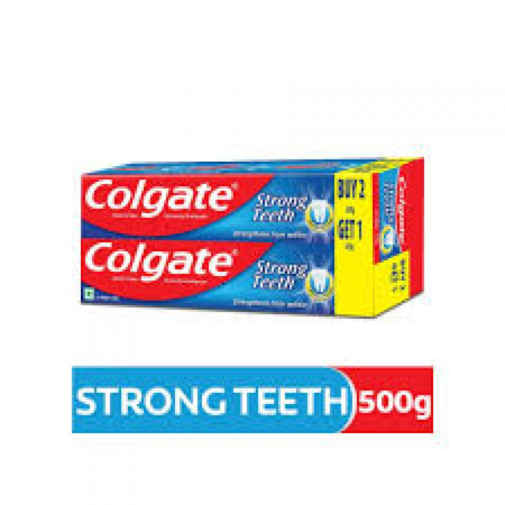 COLGATE STRONG TEETH BUY 2 GET 1 FREE 500gm