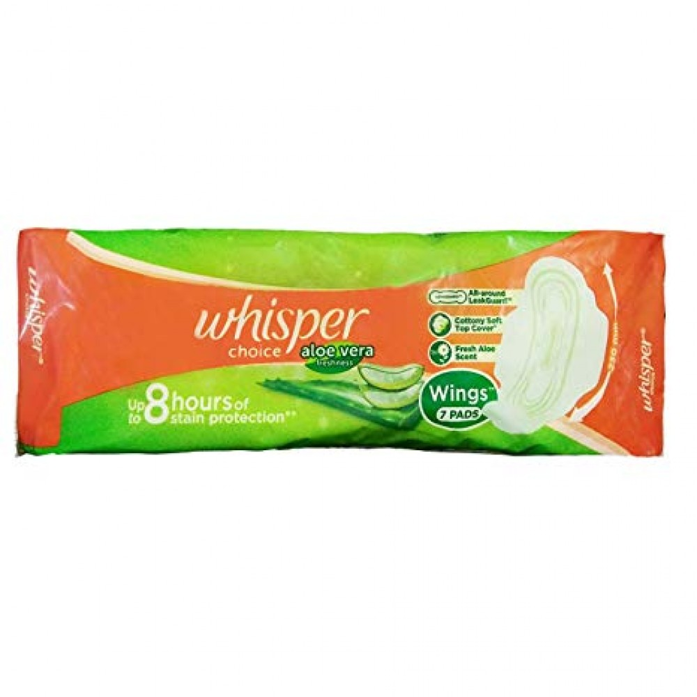 WHISPER CHOICE ALOE VERA FRESHNESS XL 6 PADS