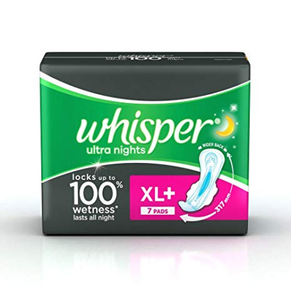 WHISPER ULTRA NIGHTS XL+ 7 PADS