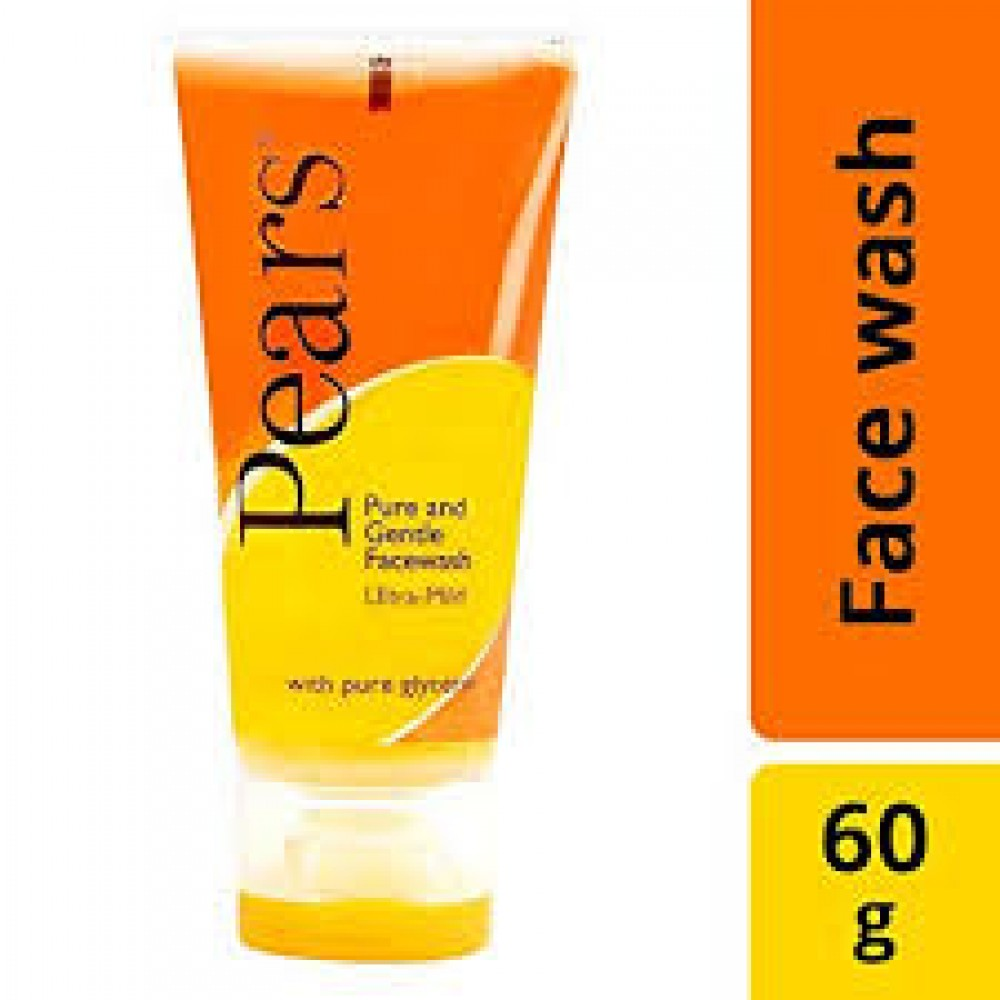 PEARS PURE AND GENTLE FACE WASH 60g