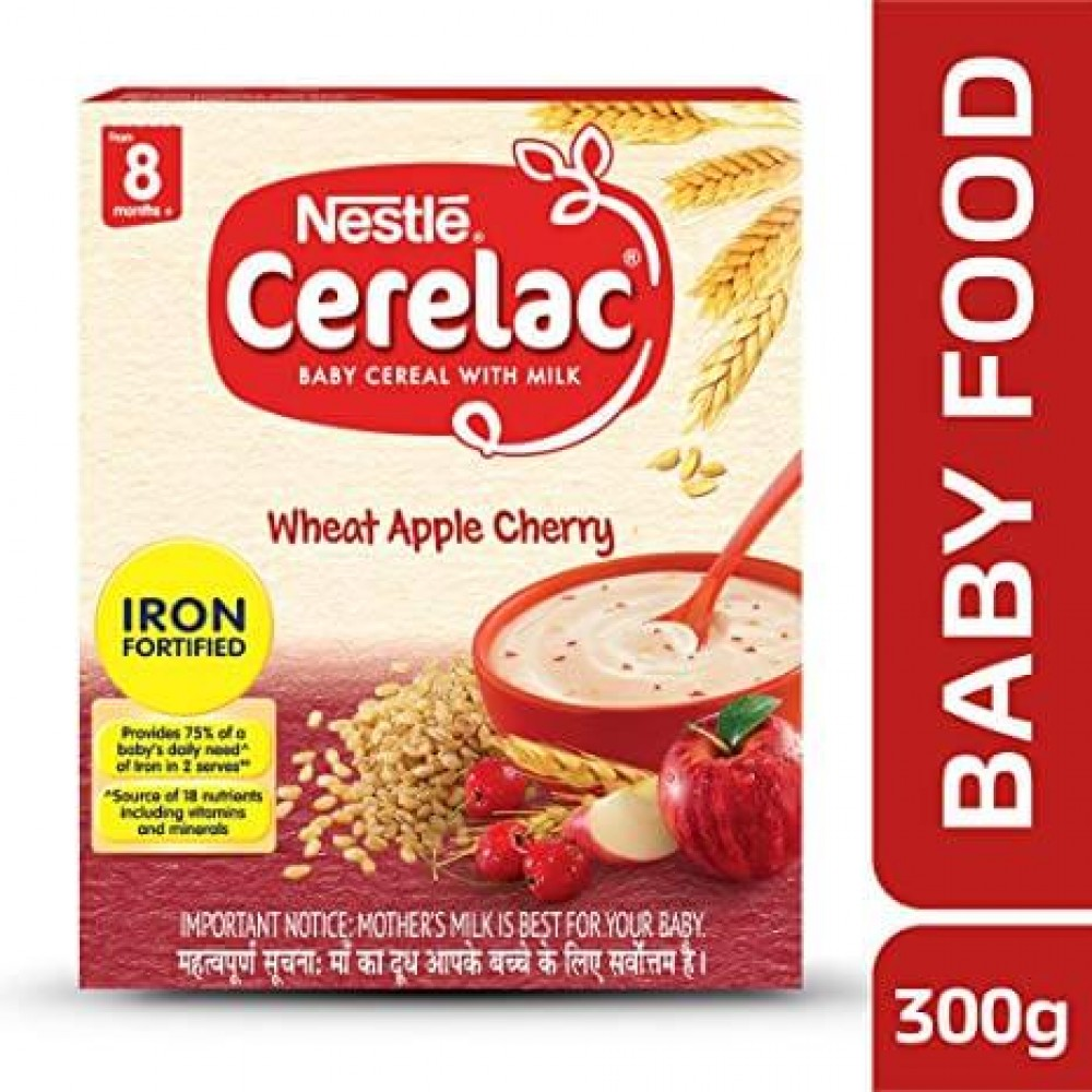 NESTLE CERELAC WHEAT APPLE CHERRY FROM 8 MONTH+ 300g