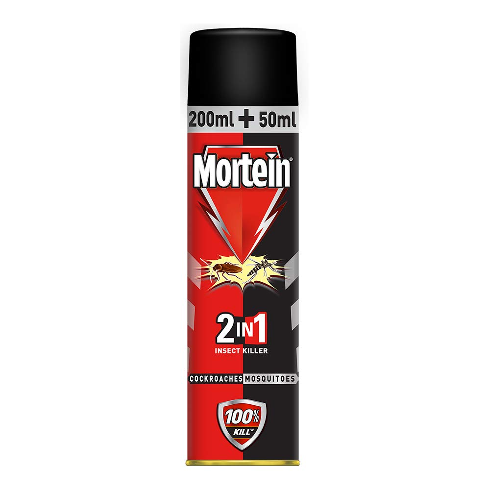 MORTEIN 2 NI COCKROACHES MOSQUITOES 250ml